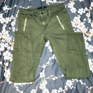 Joes Skinny Army Green jeans